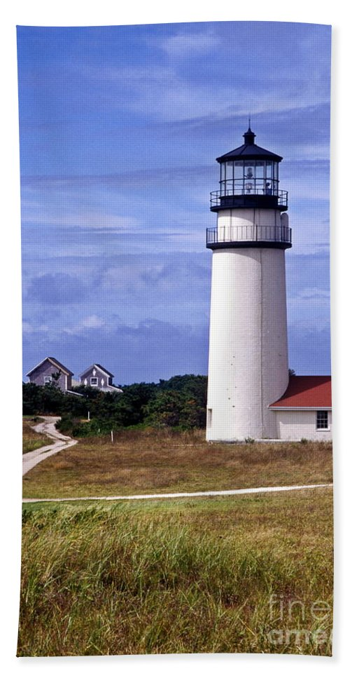 Cape Cod Hand Towel featuring the photograph Highland Light Truro by John Greim