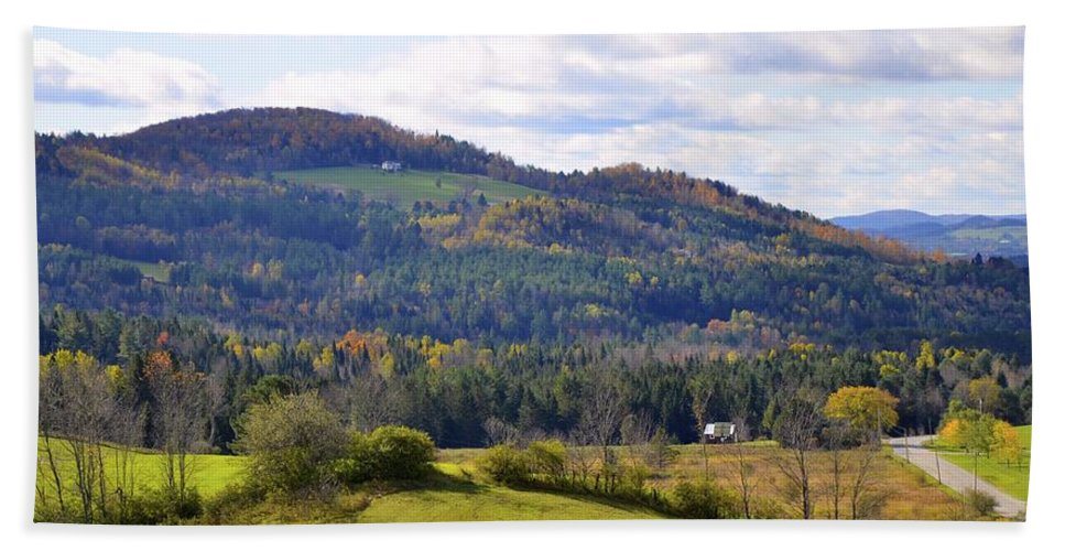 Vermont Hand Towel featuring the photograph Hills Of Vermont by Corinne Rhode