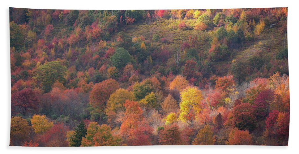 2016 Hand Towel featuring the photograph Hillside Rhythm Of Autumn by JW Photography