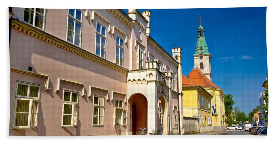 Church Bath Sheet featuring the photograph Historic Architecture Of Town Bjelovar by Brch Photography