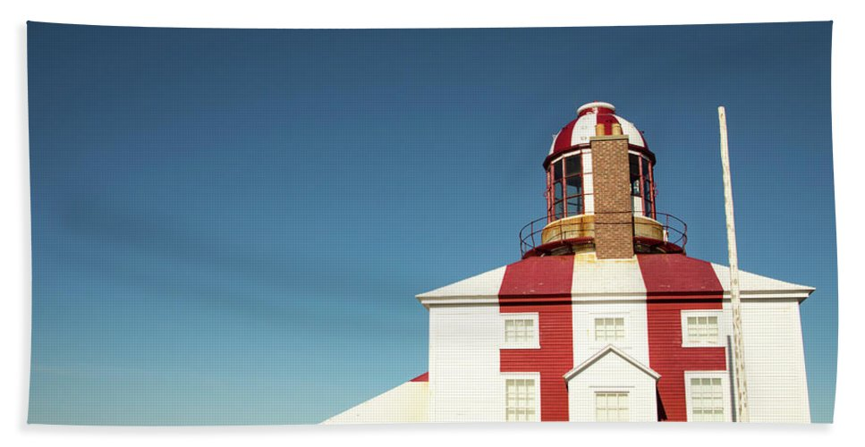 Bonavista Bath Sheet featuring the photograph Historic Cape Bonavista Lighthouse, Newfoundland, Canada by Karen Foley