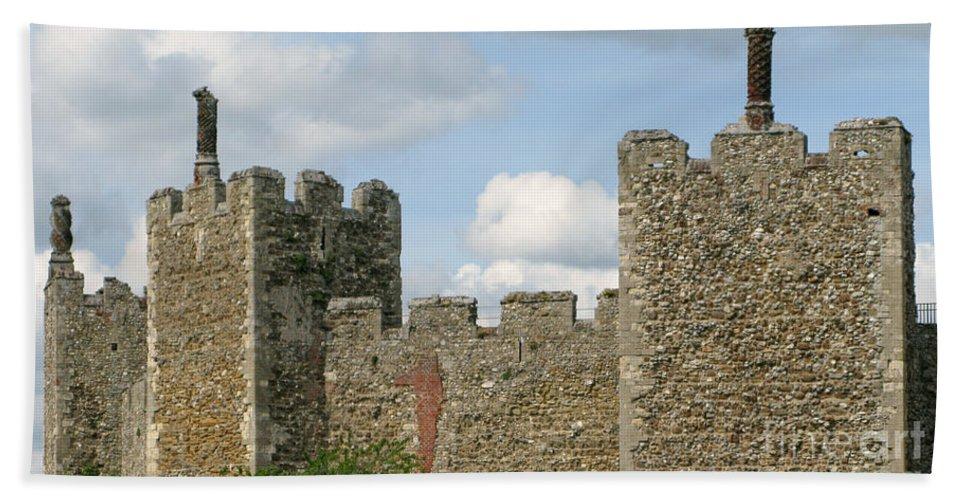 Castle Bath Towel featuring the photograph Historic Castle by Ann Horn