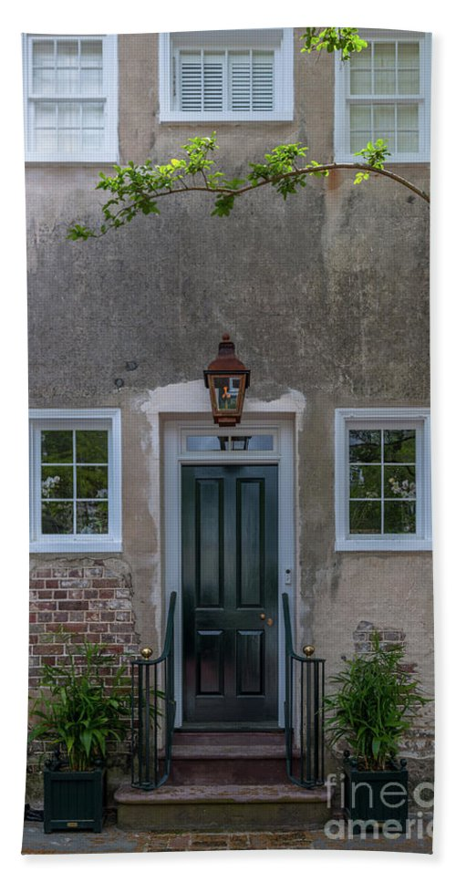 Entrance Hand Towel featuring the photograph Historic Downtown Charleston Entrance by Dale Powell