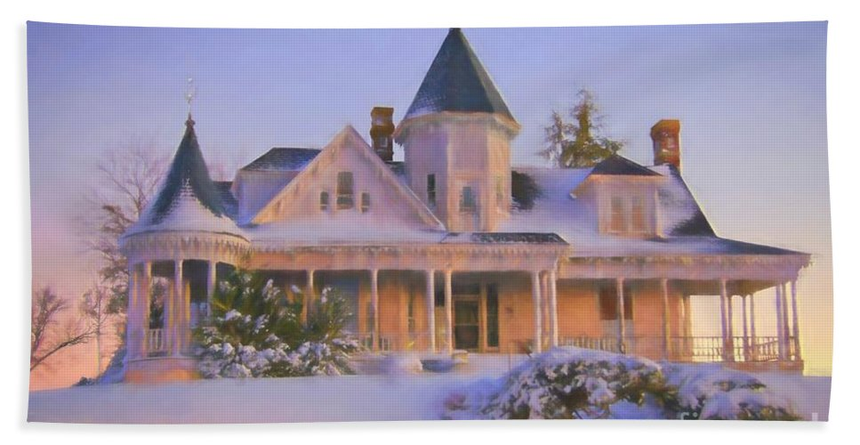 Sidna Allen House Bath Sheet featuring the photograph Historic Sidna Allen House by Benanne Stiens