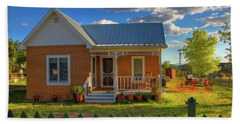 Landscape Bath Sheet featuring the photograph Historic Tombstone In Arizona by Charlene Mitchell