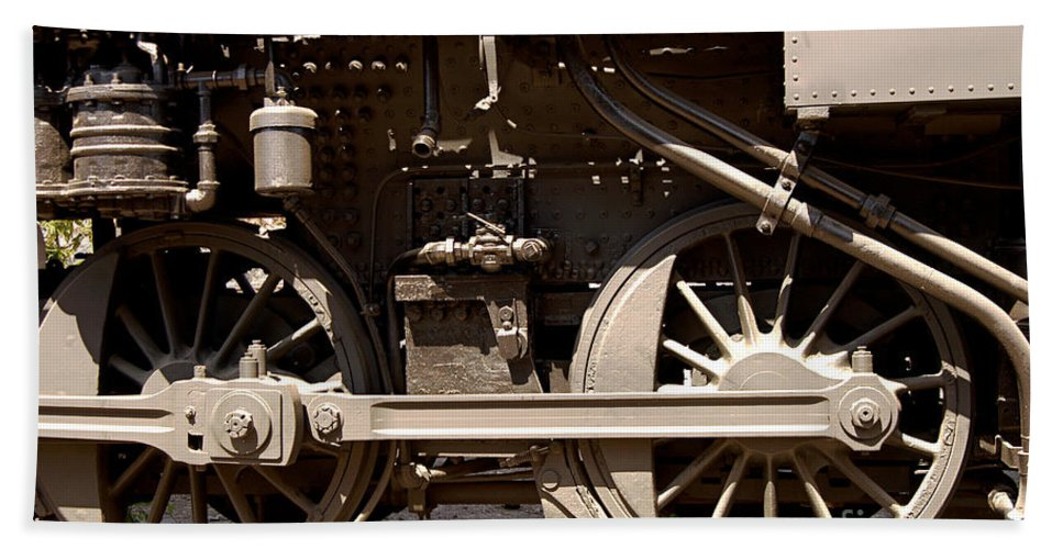 Clay Hand Towel featuring the photograph Historic Trains by Clayton Bruster