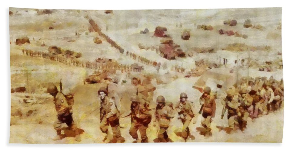 History In Color  D Day, Omaha Beach, Wwii Hand Towel