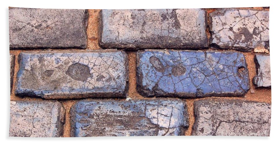 Street Hand Towel featuring the photograph Hit The Bricks by Debbi Granruth