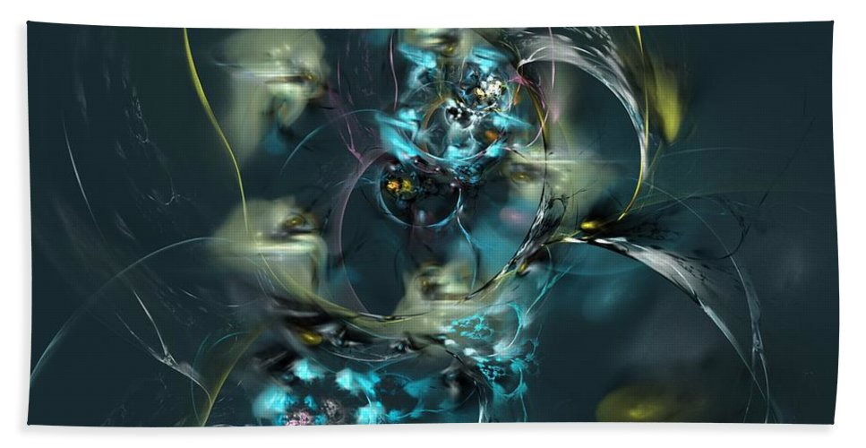 Fantasy Hand Towel featuring the digital art Hive by David Lane