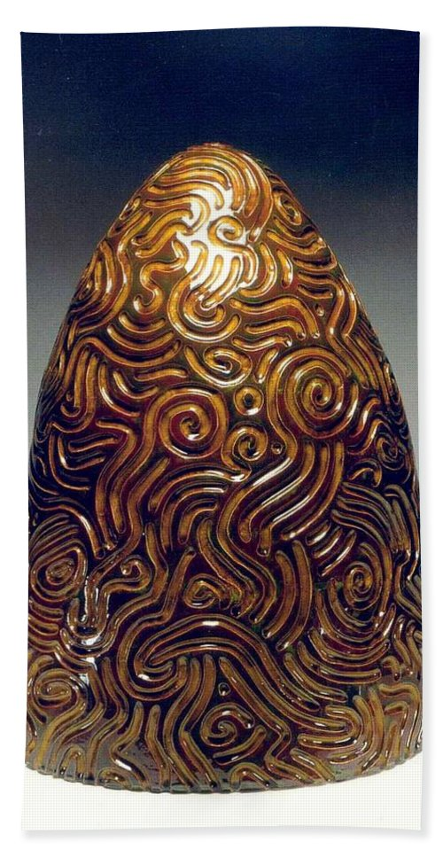 Sculpture Hand Towel featuring the sculpture Hive II by Jason Messinger