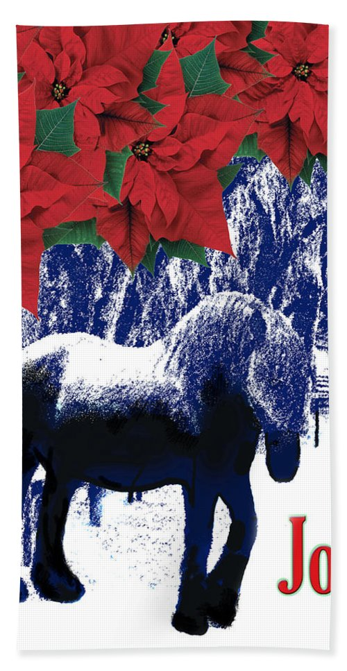 Christmas Card Hand Towel featuring the photograph Holiday Joy Card by Adele Moscaritolo