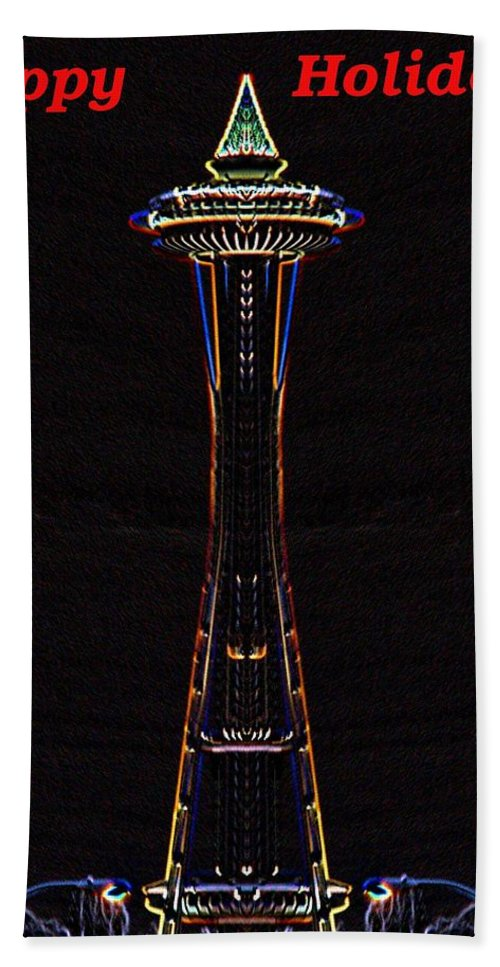 Seattle Bath Towel featuring the photograph Holiday Needle 3 by Tim Allen