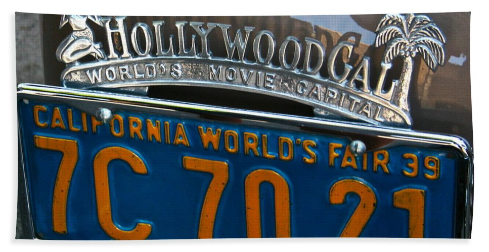 Photograph Bath Sheet featuring the photograph Hollywood by Gwyn Newcombe
