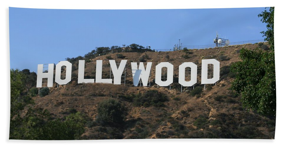 Hollywood Hand Towel featuring the photograph Hollywood by Marna Edwards Flavell