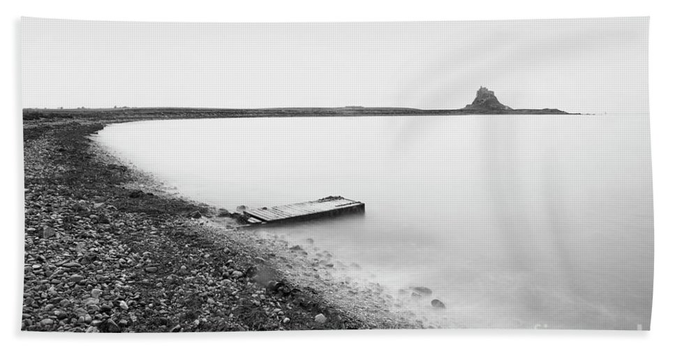 Holy Island Hand Towel featuring the photograph Holy Island - Minimalism by Tony Higginson