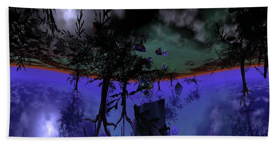 Digital Painting Bath Sheet featuring the digital art Homage by David Lane