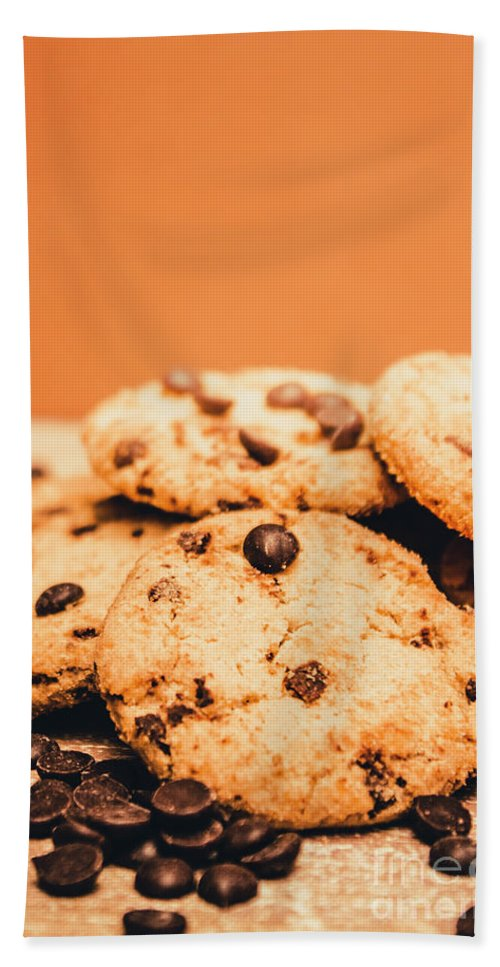 Chocolate Hand Towel featuring the photograph Home Baked Chocolate Biscuits by Jorgo Photography - Wall Art Gallery