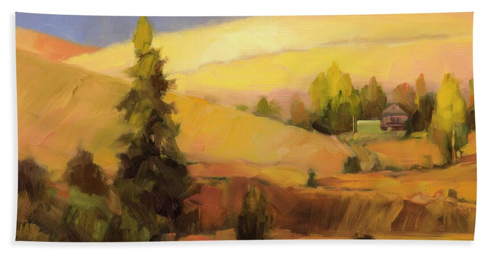 Country Bath Towel featuring the painting Homeland 2 by Steve Henderson