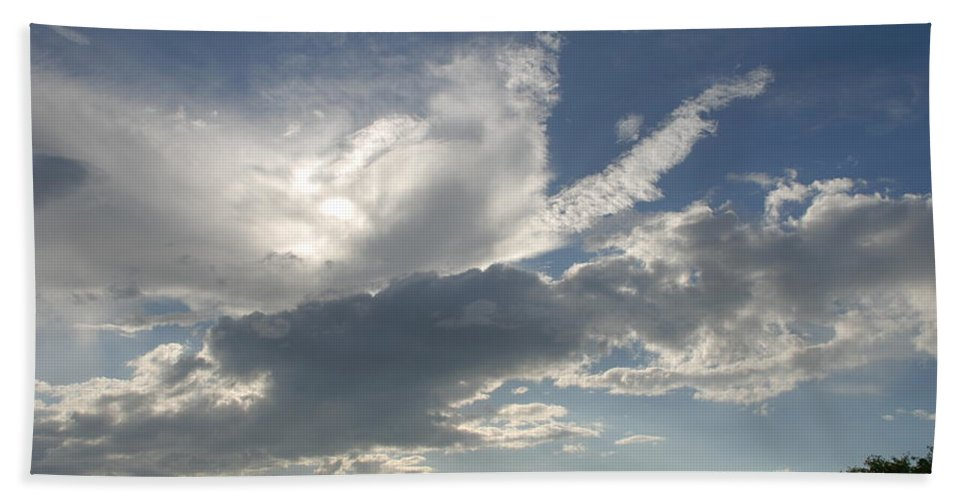 Sky Bath Sheet featuring the photograph Homestead Sky by Rob Hans
