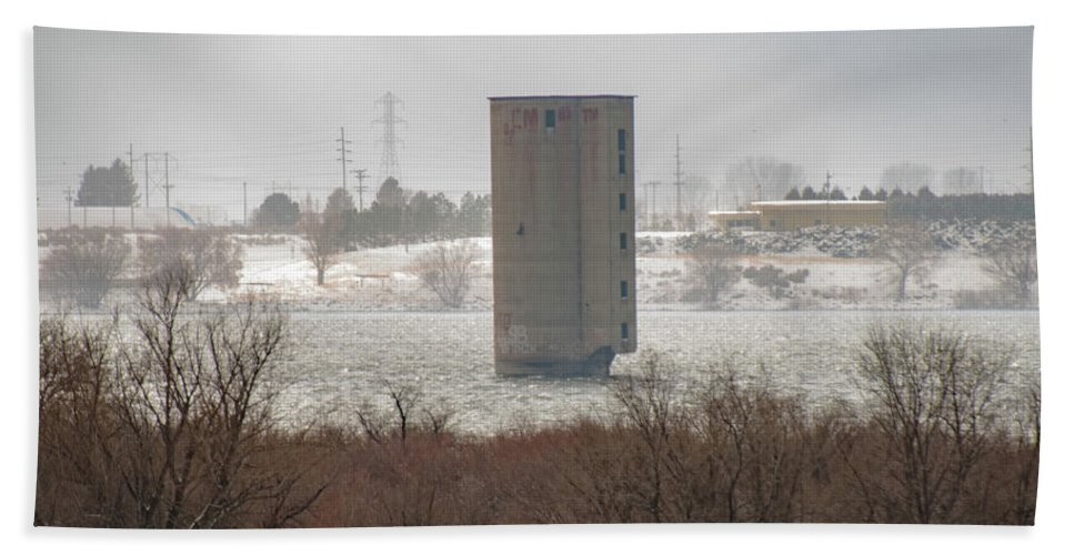 Landscape Hand Towel featuring the photograph Hometown Landmark by Dora Stratton