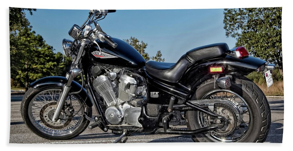 Honda Hand Towel featuring the photograph Honda Shadow by Amber Flowers