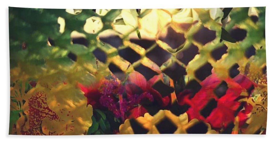 Honeycombe Hand Towel featuring the digital art Honeycombe Holiday by Steve Swindells