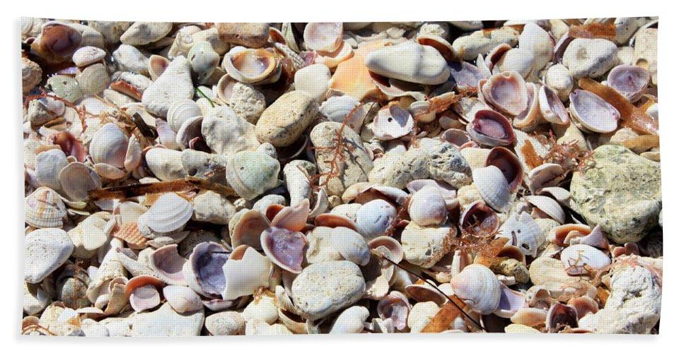 Shells Hand Towel featuring the photograph Honeymoon Island Shells by Carol Groenen