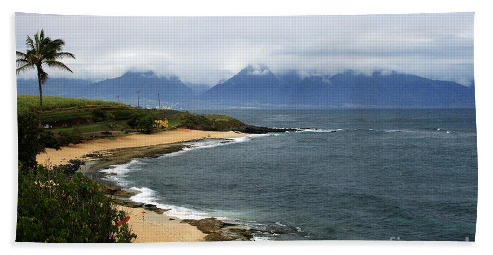 Aloha Bath Sheet featuring the photograph Hookipa Beach Maui North Shore Hawaii by Sharon Mau