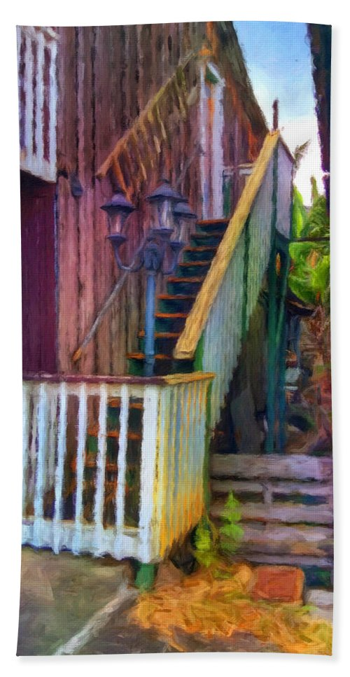 Hawaii Hand Towel featuring the photograph Hookipa Stairway by Snake Jagger