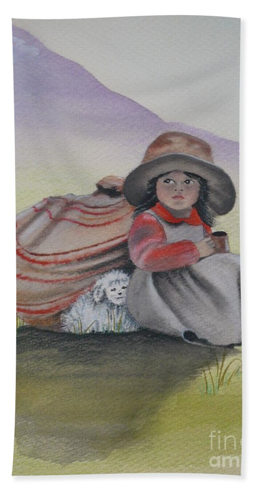 Children Hand Towel featuring the painting Hope by Kris Crollard