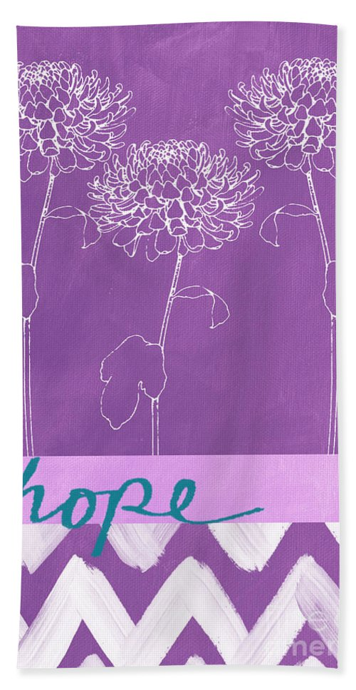 Flowers Hand Towel featuring the painting Hope by Linda Woods