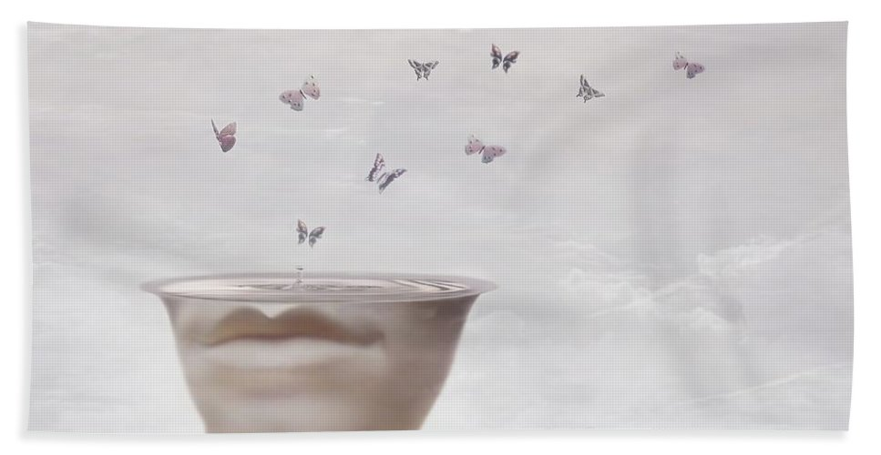 Surreal Bath Towel featuring the digital art Hope Springs Eternal by Jacky Gerritsen