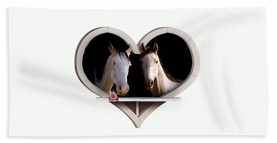 Horse Bath Sheet featuring the photograph Horse Lovers by Gravityx9 Designs
