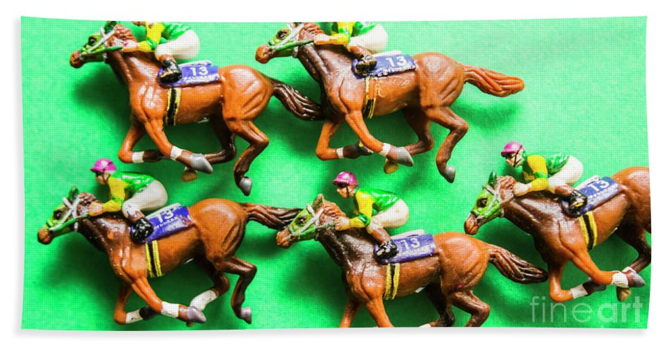 Horse Bath Towel featuring the photograph Horse Racing Carnival by Jorgo Photography - Wall Art Gallery
