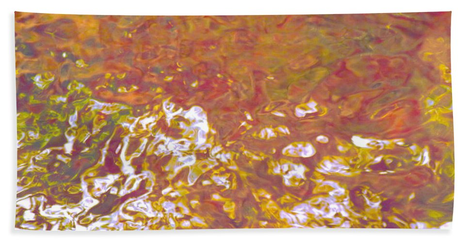 Abstract Bath Sheet featuring the photograph Forces Of Love Breaking Through by Sybil Staples