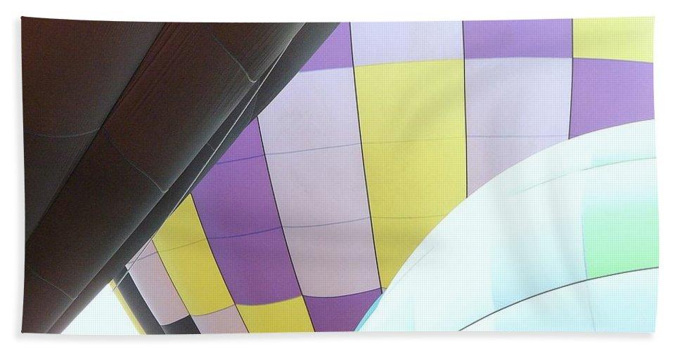 Balloons Bath Sheet featuring the photograph Hot Air Rising by J R Seymour