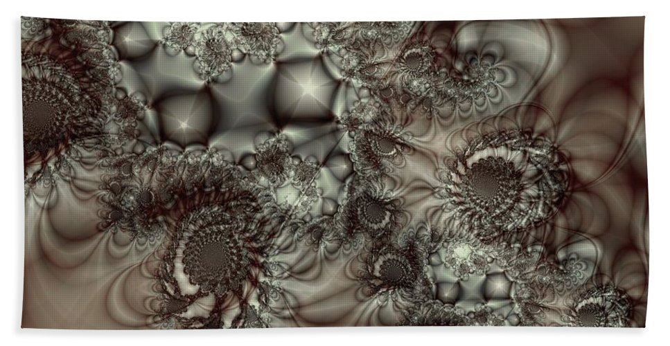 Green Bath Towel featuring the digital art Hot Chocolate Possibilities by Casey Kotas