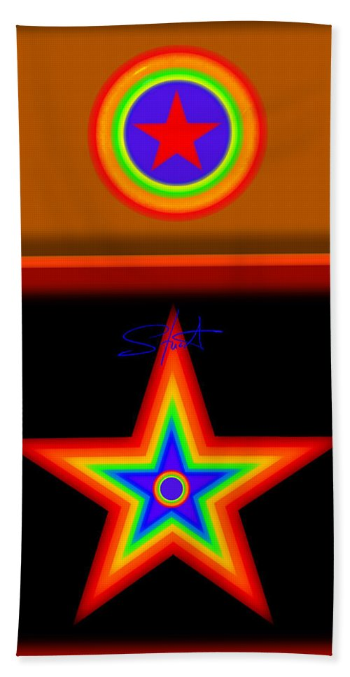 Classical Bath Towel featuring the painting Hot Circus Stuff by Charles Stuart