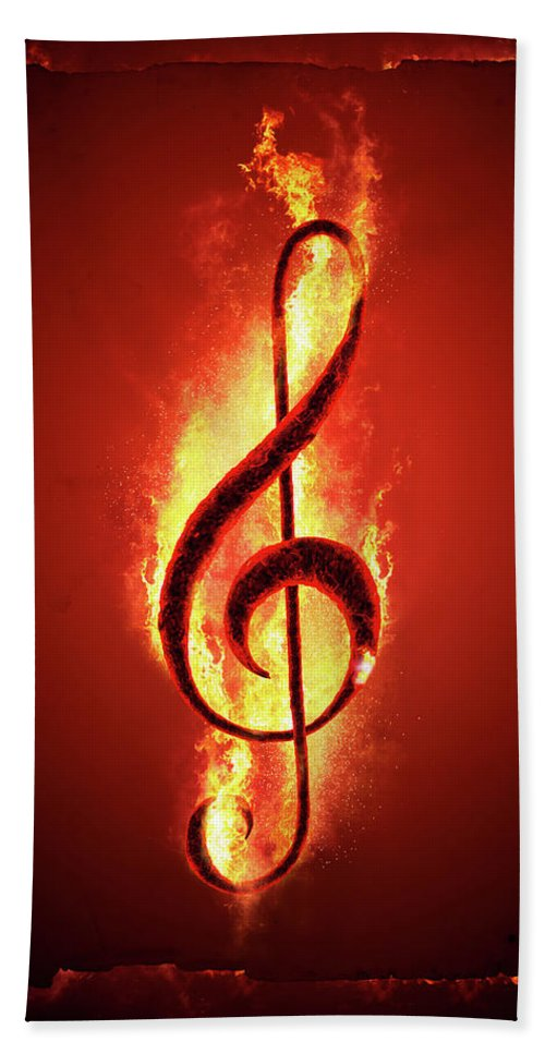 Music Bath Towel featuring the photograph Hot Music by Johan Swanepoel