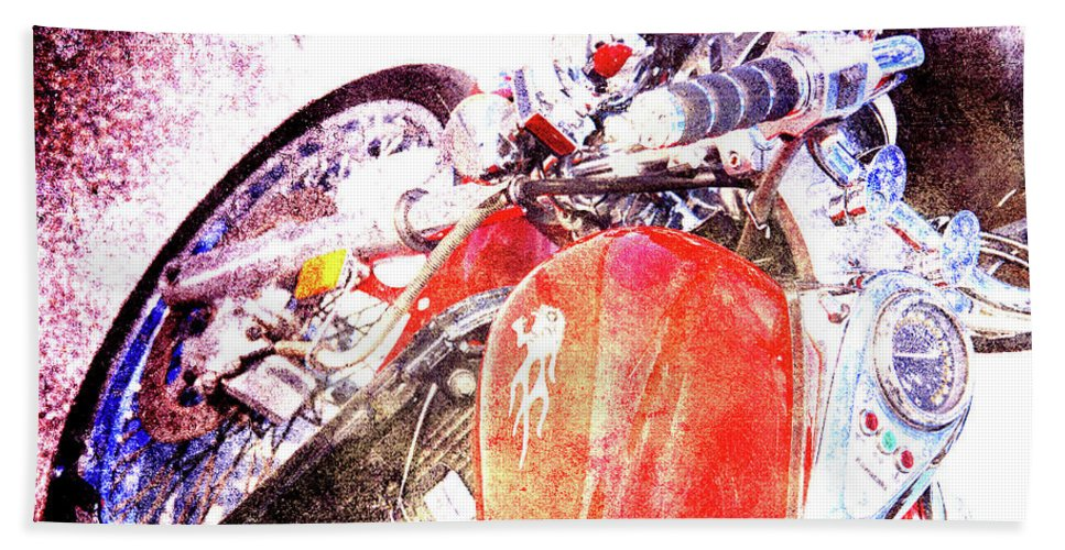 Ducati Bath Sheet featuring the photograph Hot Red by Susanne Van Hulst