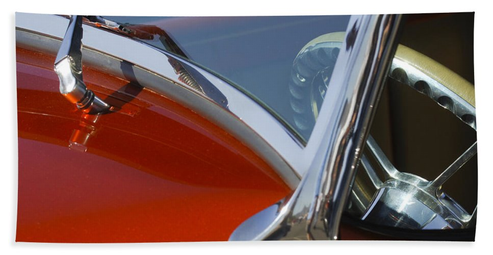 Hot Rod Hand Towel featuring the photograph Hot Rod Steering Wheel 4 by Jill Reger