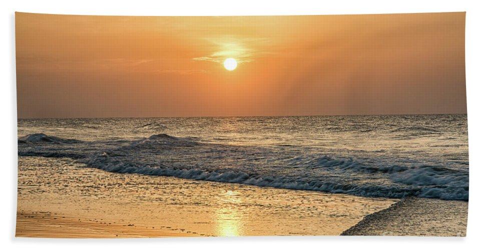 Hot Summer Sun Bath Sheet featuring the photograph Hot Summer Sun by Christine Martin-Lizzul