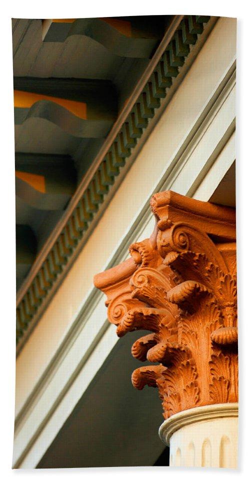 Architecture Bath Sheet featuring the photograph House Column by Jill Reger