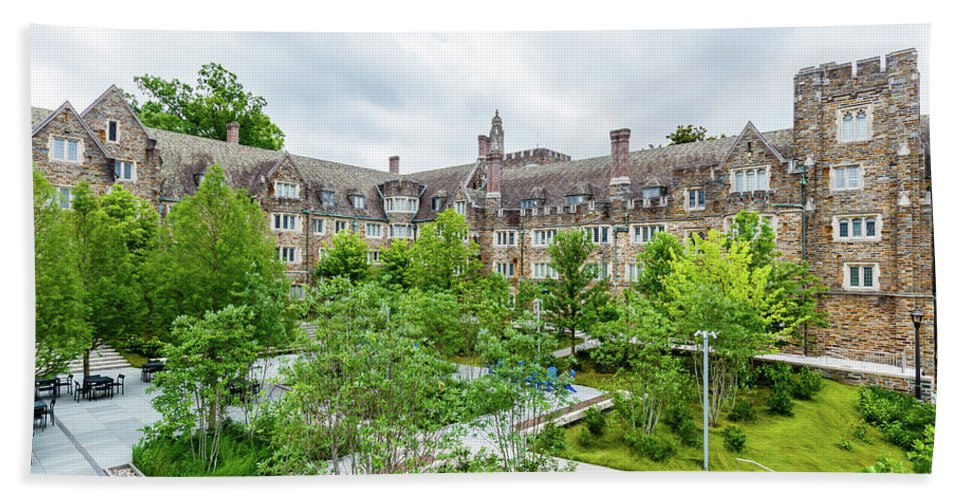 Universities Bath Sheet featuring the photograph House N, House O And House P At Duke University by Bryan Pollard