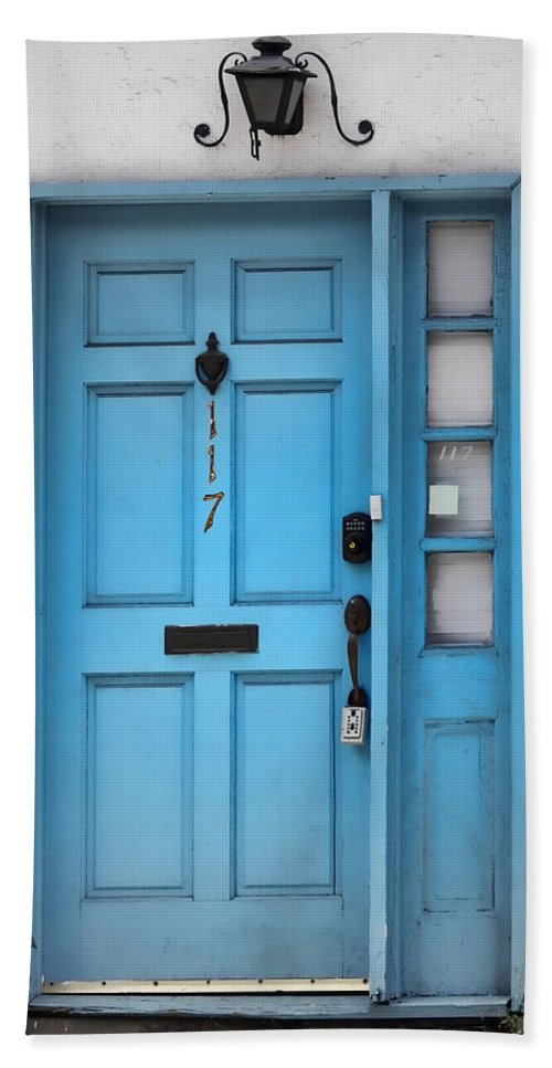 Door Bath Sheet featuring the photograph House Of Blues by JAMART Photography