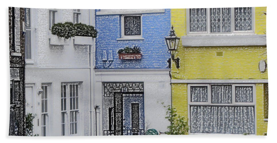 House Hand Towel featuring the photograph Houses by Amanda Barcon