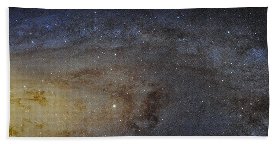 3scape Hand Towel featuring the photograph Hubble's High-definition Panoramic View Of The Andromeda Galaxy by Adam Romanowicz