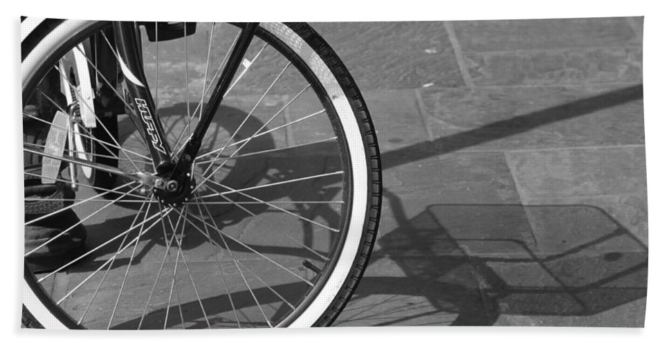 Bicycle Hand Towel featuring the photograph Huffy Shadow by Lauri Novak