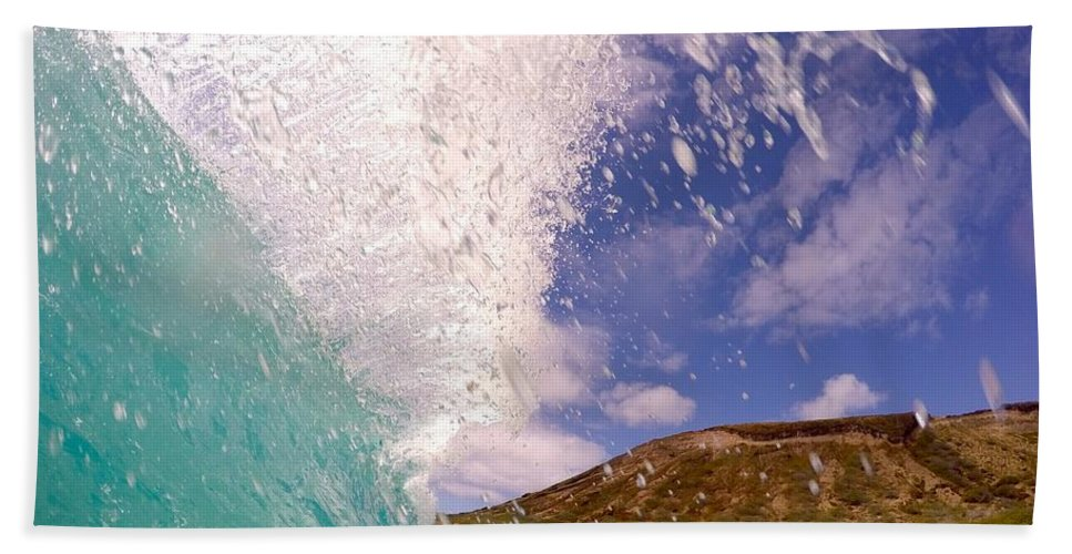 Wave Hand Towel featuring the photograph Huge Sandys Flare by Benen Weir