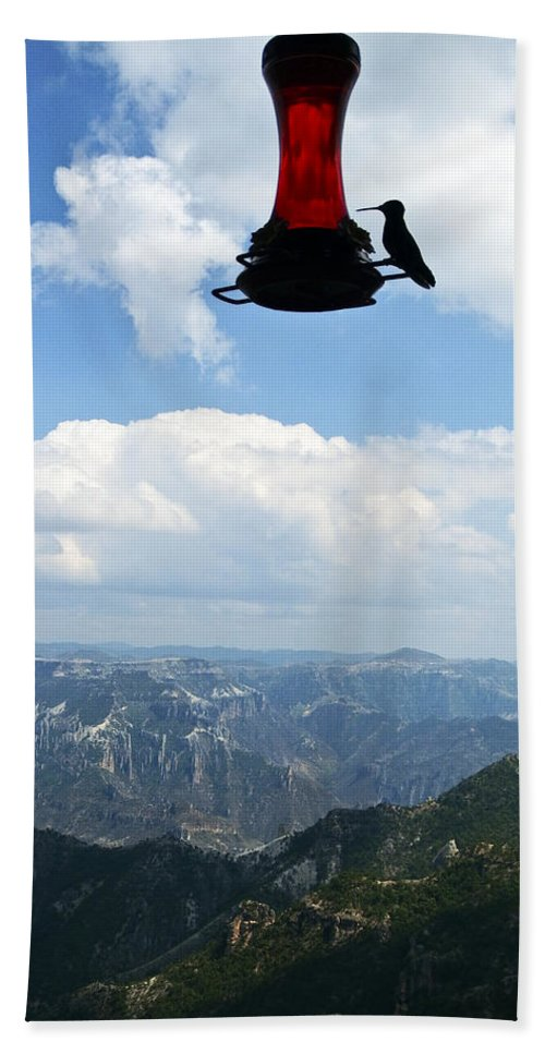 Copper Canyon Bath Sheet featuring the photograph Humming At Copper Canyon by Kurt Van Wagner